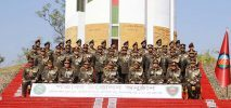 রামু সেনানিবাসে ৪টি ইউনিটের পতাকা উত্তোলন করলেন সেনা প্রধান
