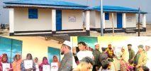 মুজিব শতবর্ষ উপলক্ষ্যে প্রধানমন্ত্রীর উপহারের ২৭ঘর বুঝে নিলেন হ্নীলার অসহায় দরিদ্ররা