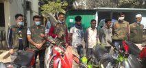 কক্সবাজারে ৬ চোরাই মোটর সাইকেলসহ আটক-৩