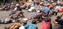 মিয়ানমারে আরও ৮ বিক্ষোভকারীকে গুলি করে হত্যা