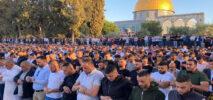 হামলার পরও আল-আকসা মসজিদে ঈদের জামাত